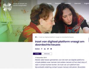 schermafbeelding digitale platforms